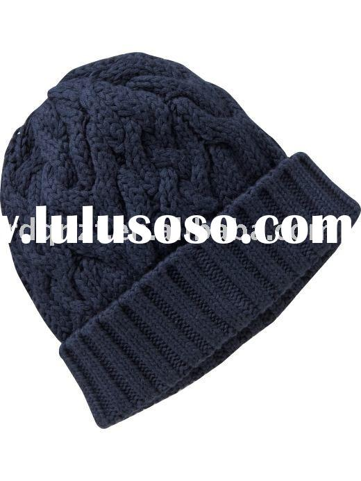 Men's Dark Sea Blue Knit Hat