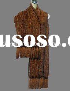 Mink knitted shawl