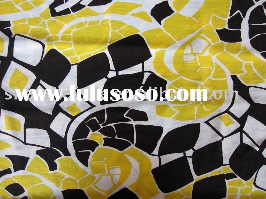 Single span/polyester spandex knitting printed fabric with silver spangle