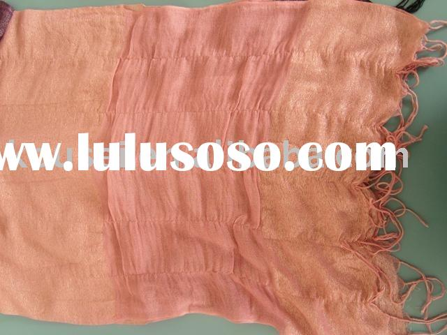 cotton and bamboo fibre lycra shawl with golden yarn