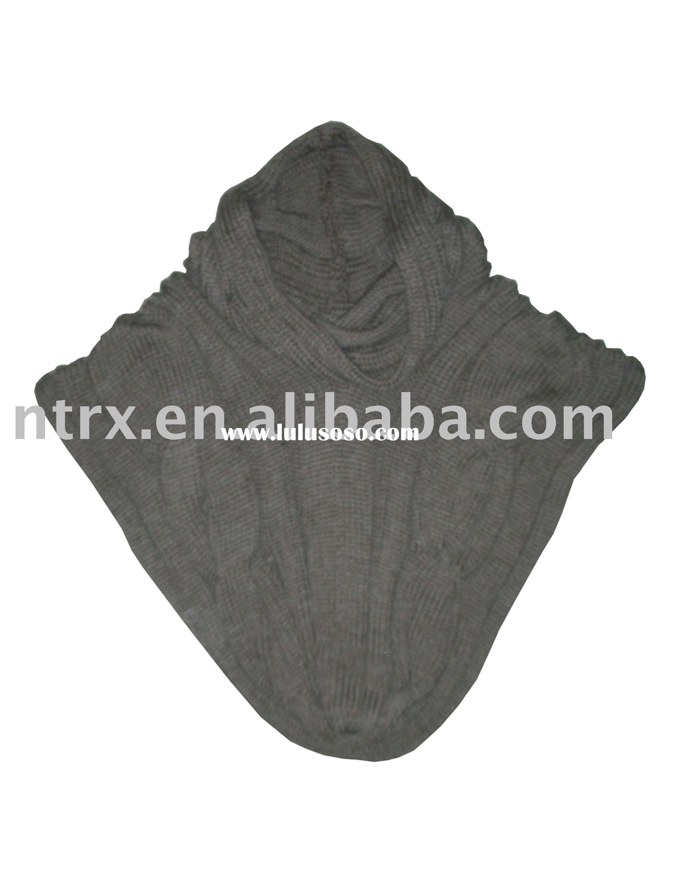 fashion cable knitted shawl