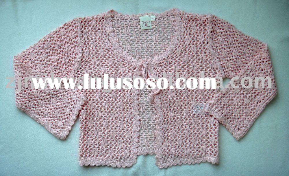 girl's cotton knit sweater cardigan,