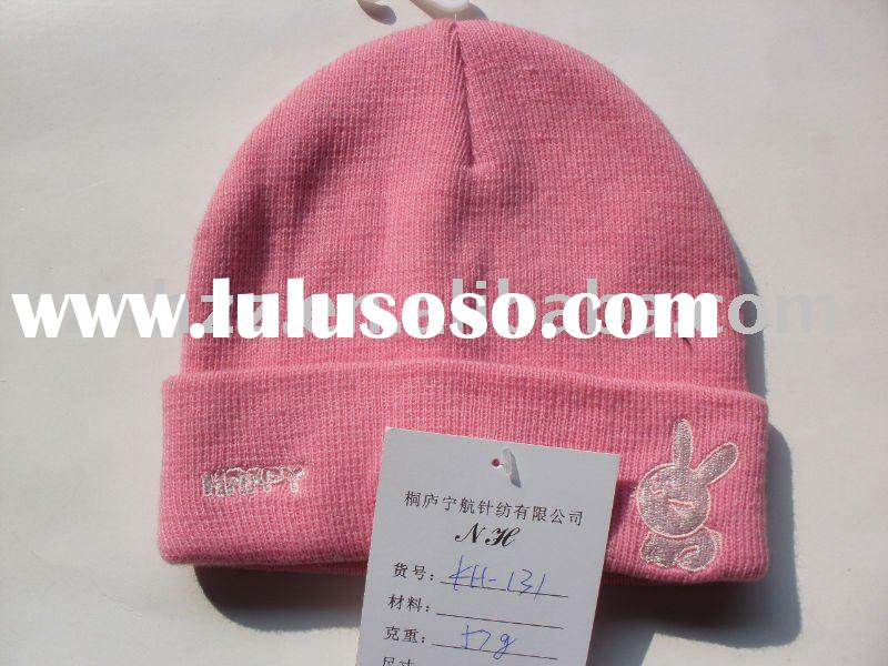 kid's fashion knitted beanie/hat with embroidery KH-131