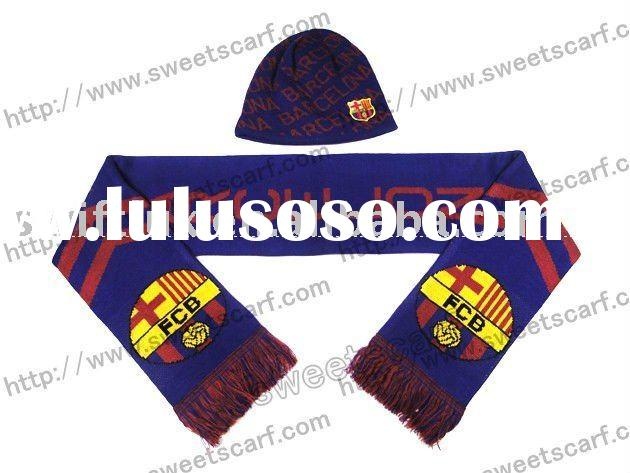knitting patterns hats and scarves, soccer scarves, football scarves and hats
