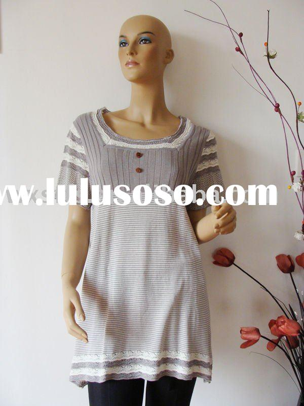 ladies' fashionable knitted sweater