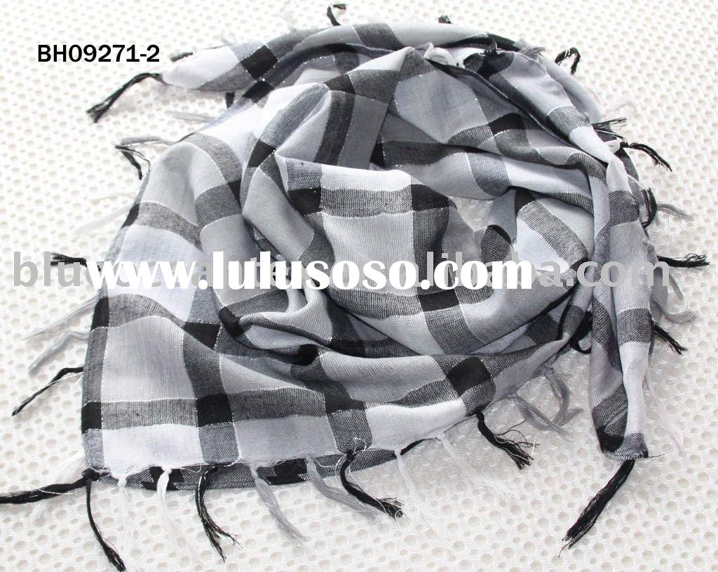 polyester and silver scarf