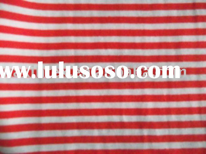 striped yarn dyed knitted jersey fabric