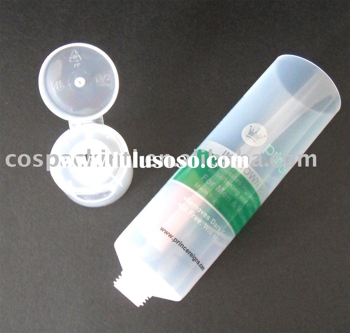 100ml Flip Top Cap Clear Plastic Tubes Container