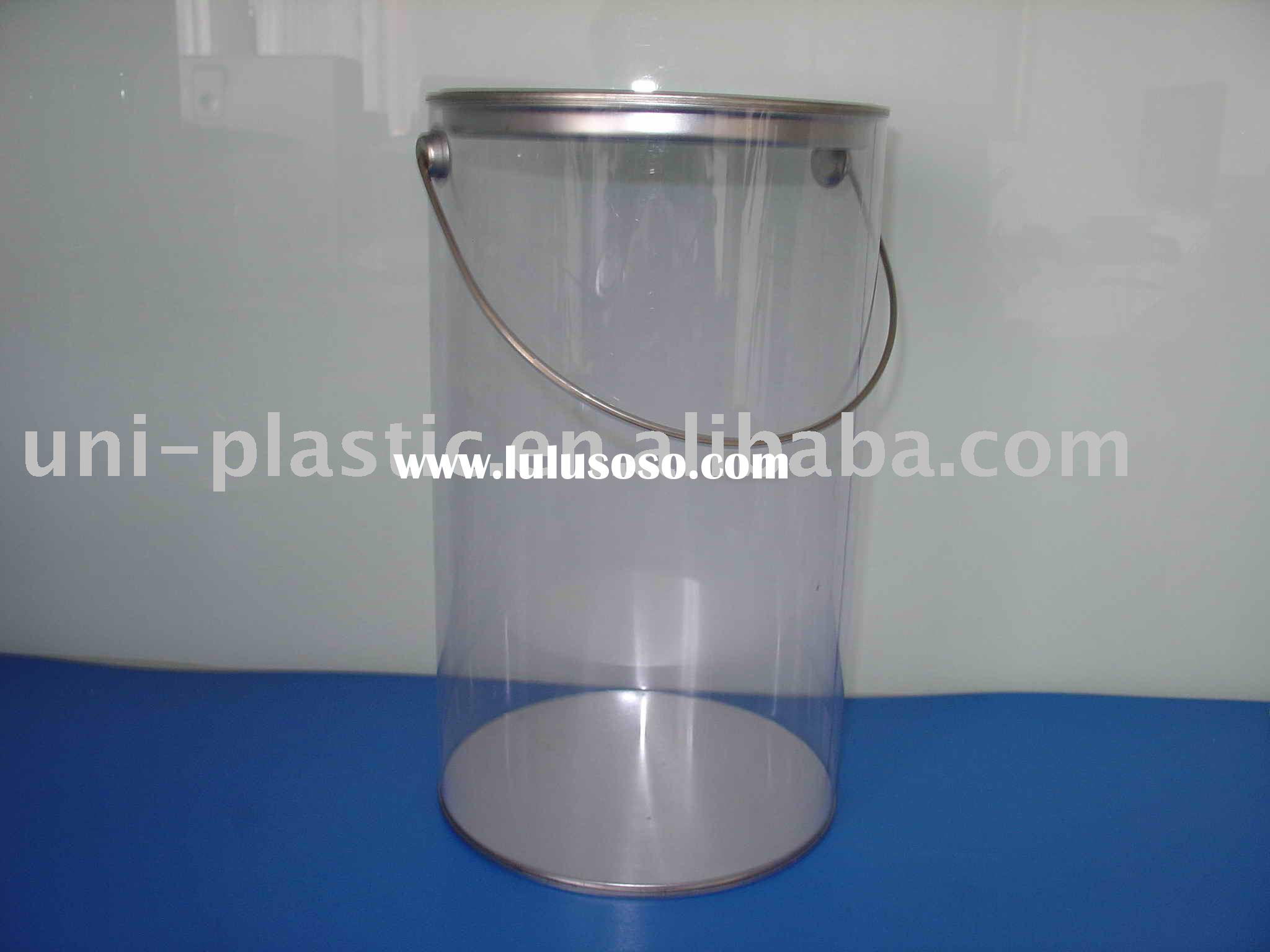 Clear PVC Bucket, Clear Tubes, Clear Containers