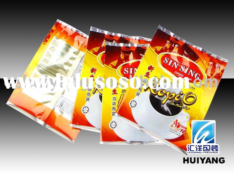 Plastic Malaysia white coffee packaging bag
