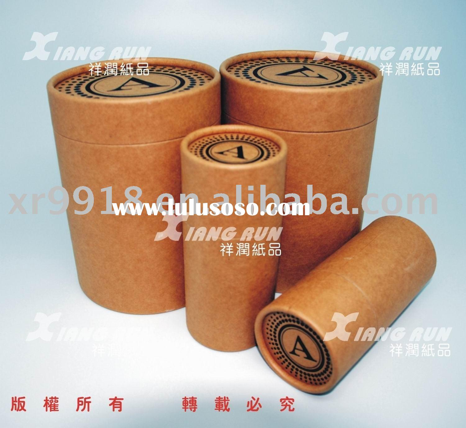Brown paper can paper tube paper cylinder kraft paper for Kraft paper craft tubes