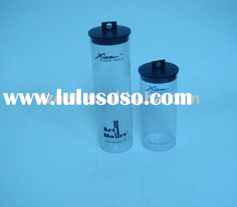 clear cylinder food packaging/small clear plastic tube/clear pvc cylinder