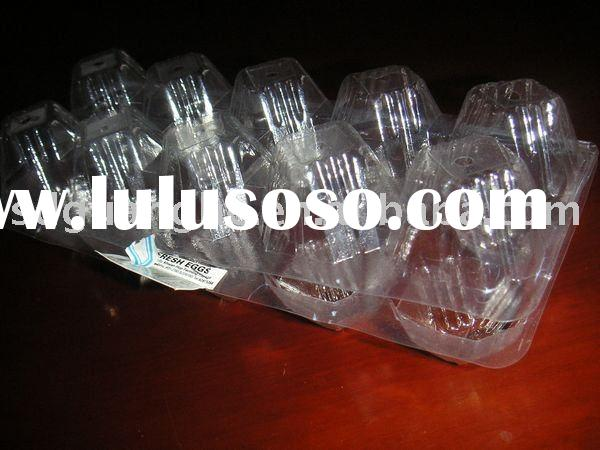 10 caves 11 grams clear plastic PVC egg tray