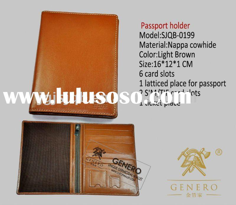2011 New Arrival Leather Product-MAN High Design Handmade Novelty Genuine Leather Card Wallet