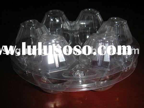 6 cavity PVC plastic egg packaging tray