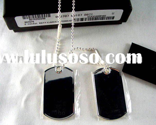 Classical 925 Silver Dog Tag Necklace Jewelry (GN002)