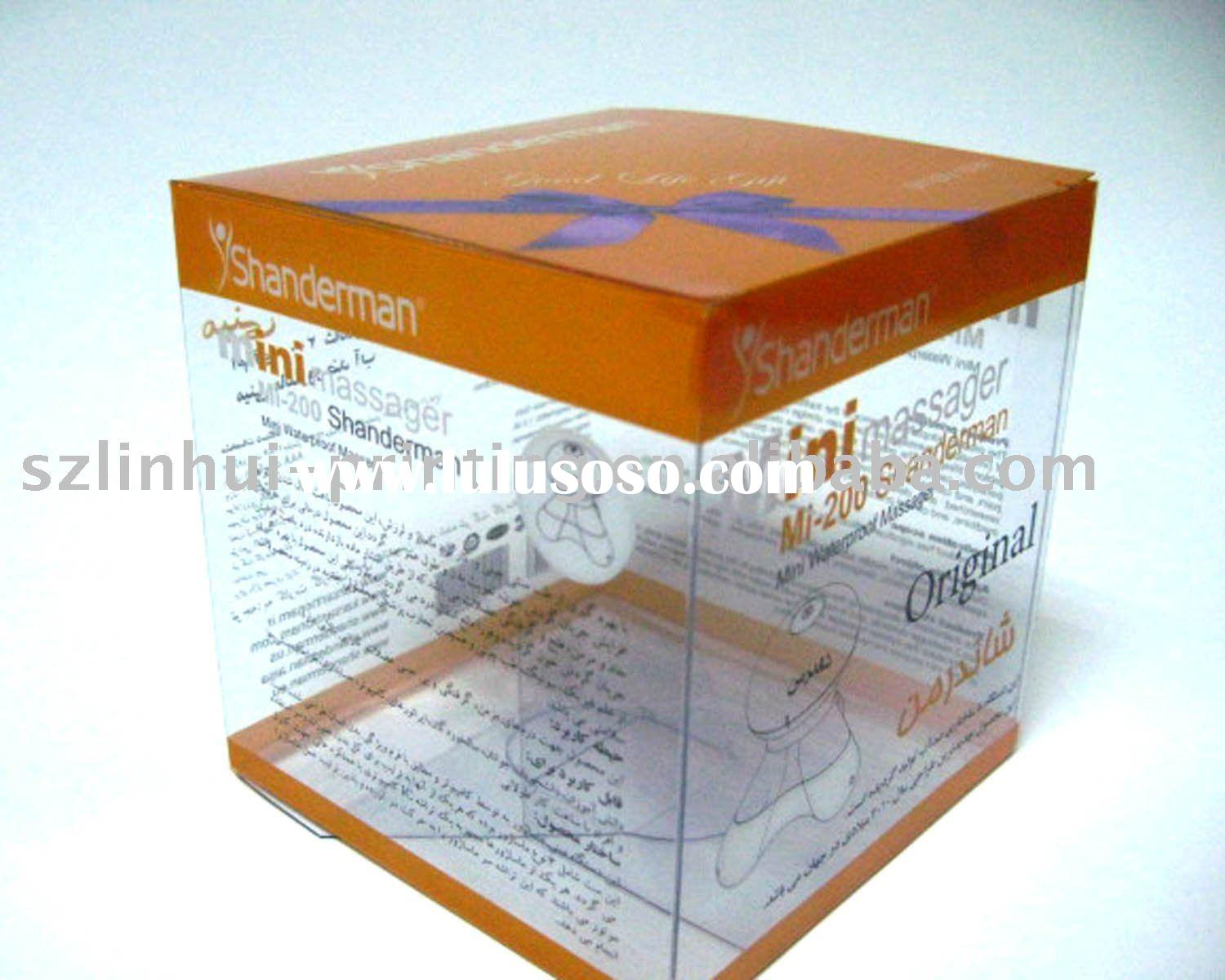 Clear Plastic box/ pvc packaging box/pet packaging box