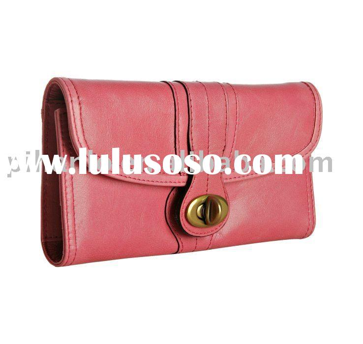 Durable ladies' wallet leather 100%