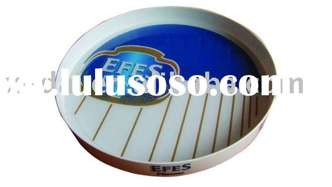Eco-friendly White ABS Plastic Bar Serving Tray
