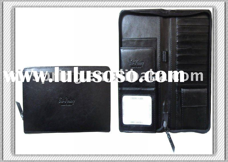 Fashion Design And Long Cow Leather Travel Wallet