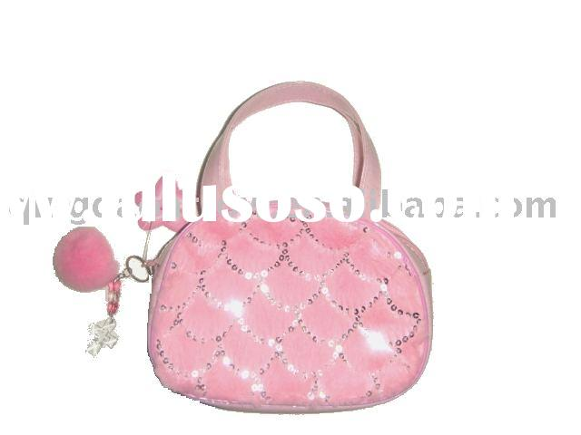 Fashion Plush Handbag For Girl's