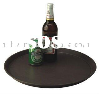 HIgh quality plastic round serving tray with size:42*2cm