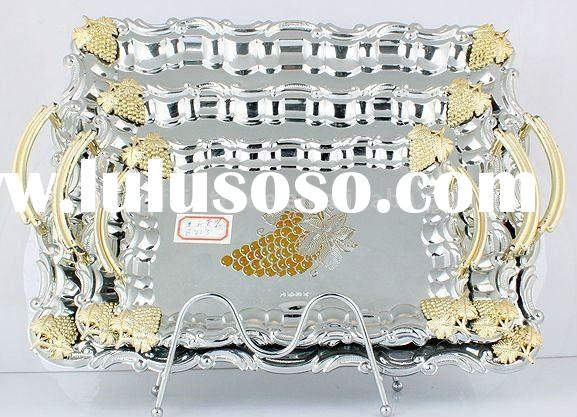 LFC10709,stainless steel tray,fruit tray,cutlery,christmas dish&plate,metal tray