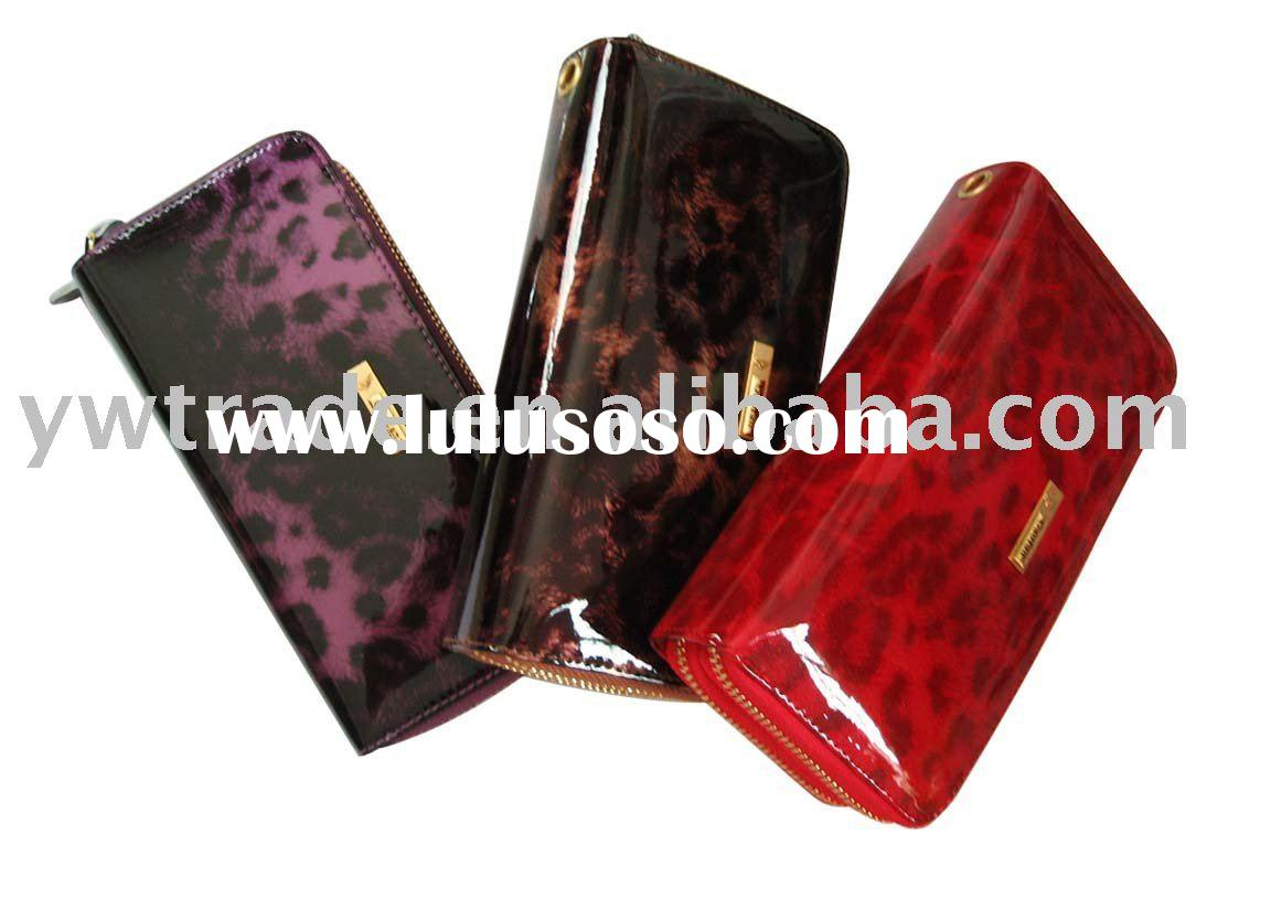 Ladies Leather Wallet , Double Zips