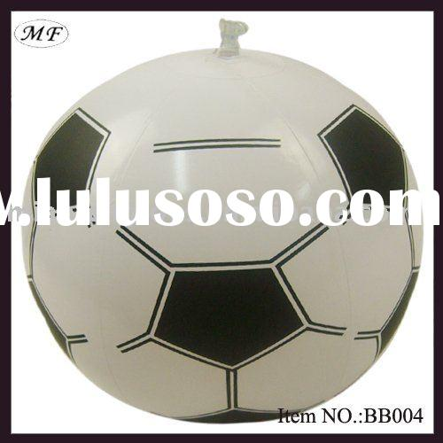 Lastest pvc beach ball with football design printing