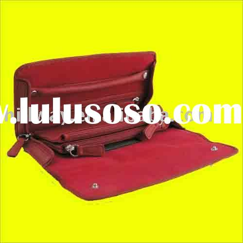 NEW LEATHER LADIES CASHMERE LIGHT TRAVEL KIT Accessories Euro Jewelry Travel Case