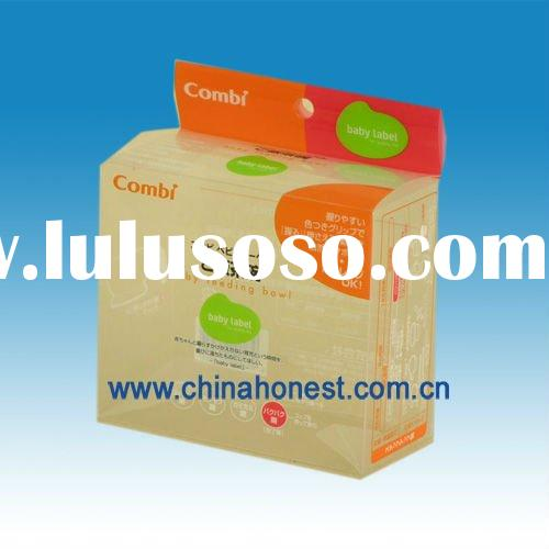 PVC/PET clear plastic packaging boxes