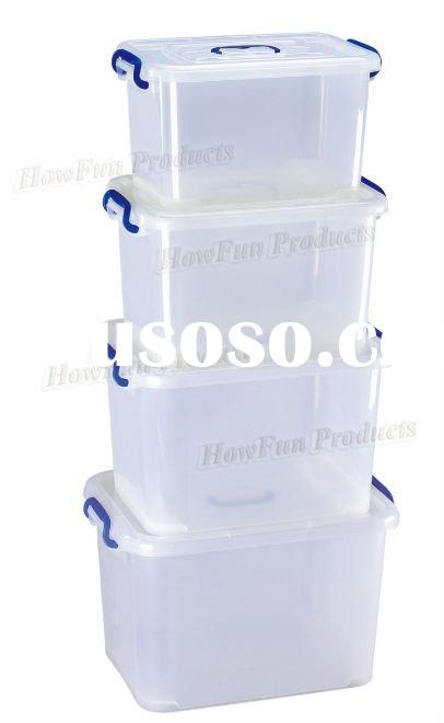 Plastic small big storage container boxes