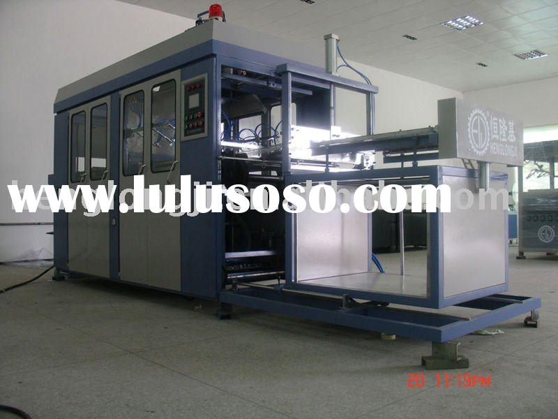 Vacuum forming machine for egg tray