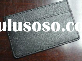 (PVC) Personalized Leather Name Card Holder, Card Holder Leather Wallet