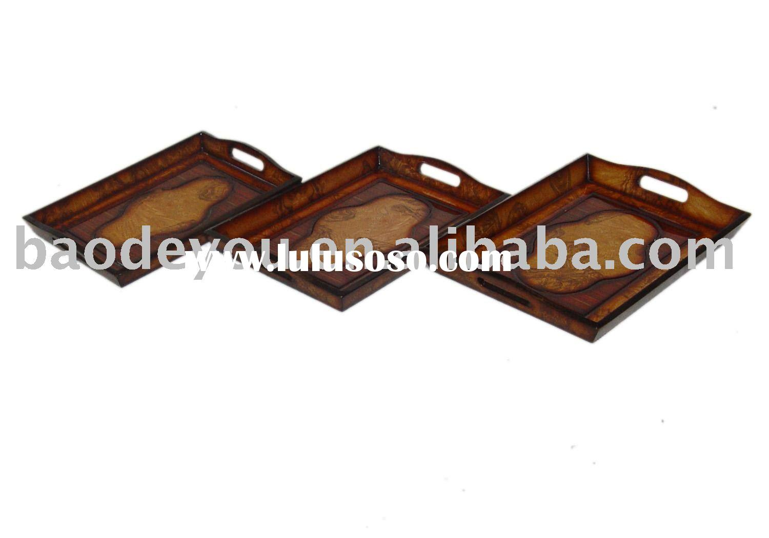 antique wooden serving  trays