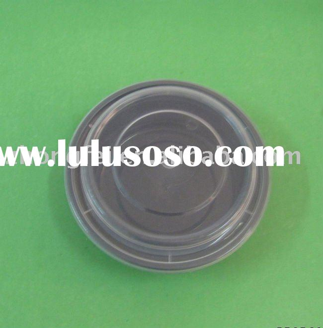 disposable black plastic container with lid