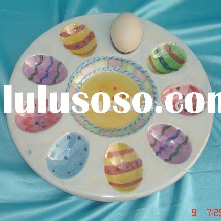 easter egg plate(Ceramic plate)
