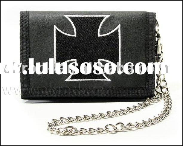 embroidered wallet wholesale band leather wallet pu wallet and skull wallet