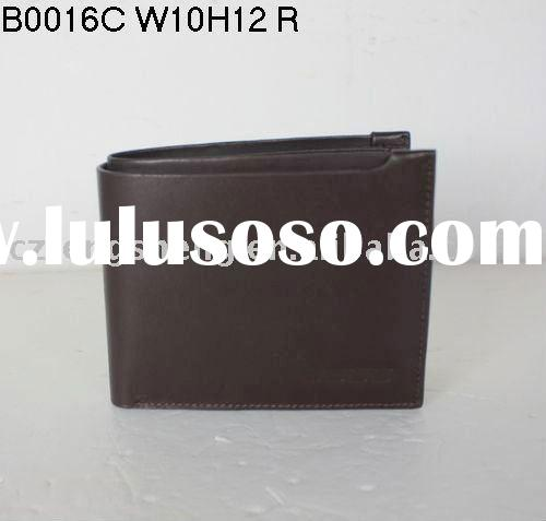 free shipping+MOQ1-Wholesale! Newest!100% genuine leather,brand Men leather wallet B0016C