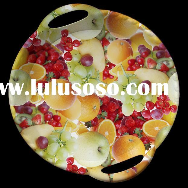 handle round tray,plastic plate,serving tray