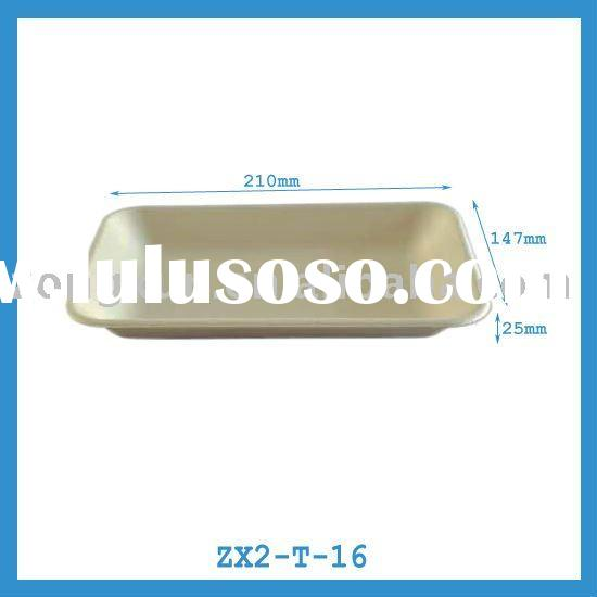 oblong paper tray for food, fruit, meat