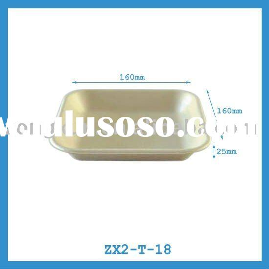 square bagasse meat tray