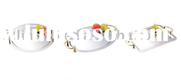 stainless steel mirror tray/food tray/service plate