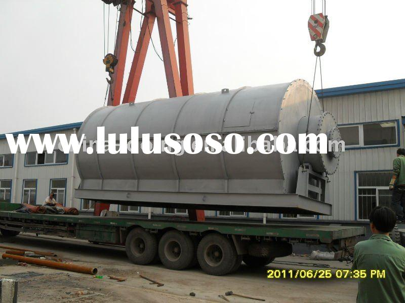 waste plastic rubber pyrolysis equipment sold into india