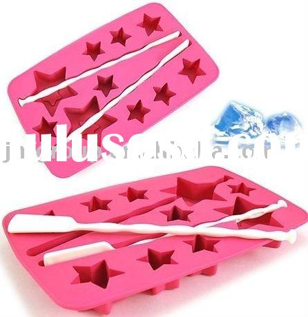 100% Food Grade silicone ice cube mould