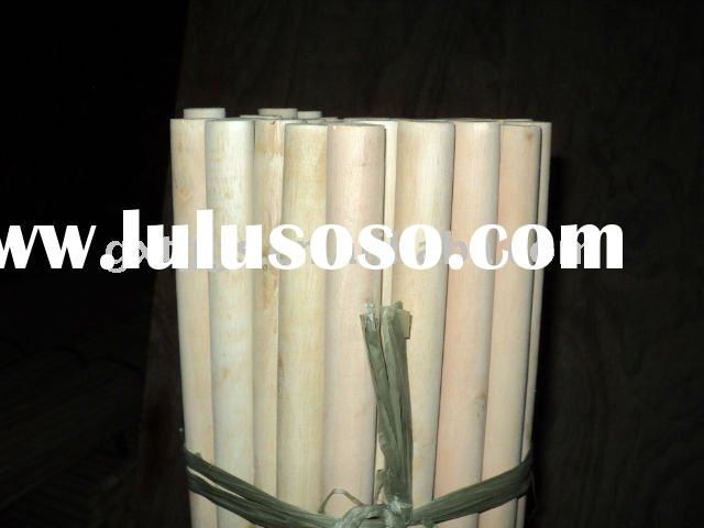 Factory Direct Wholesale  Natural Wooden Broom Stick With Italian Screw
