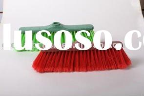 HQ0579 soft bristle plastic broom in recycled material--floor cleaning tool