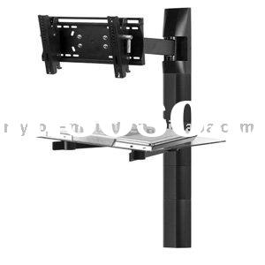 Tempered glass Shelf bracket DVD Mount
