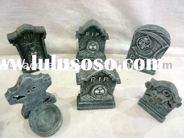 ceramic halloween tombstones