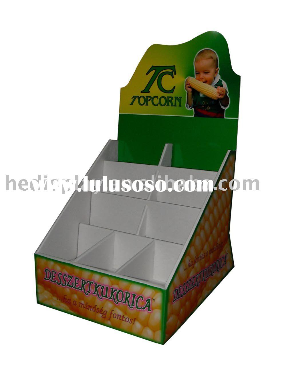 counter top display box with 9 cells ,made of corrugated paper